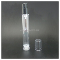 Vacuum cosmetic plastic travel bottle / perfume liquid packaging bottle