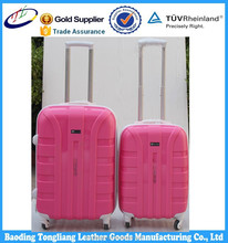 hot PP pink luggage have stock for sale/ Luggage Sets-trolley bag case