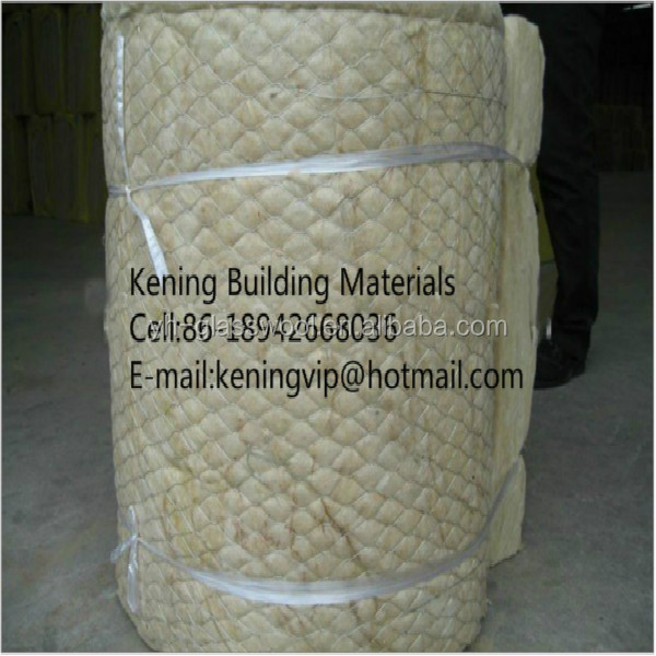Rock wool blanket with wire mesh for power plant and for Mineral wool blanket insulation