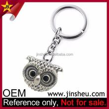 Factory Direct Sale Wholesale Zinc Alloy Custom Metal 3D Owl Keychain