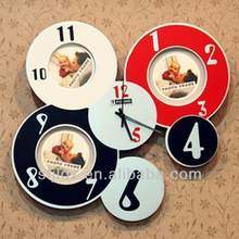Circle creative photo clock hand Fashionable promotional gifts with christmas