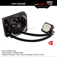 Alseye Liquid Cooler WaterMax120 computer cooling fan shenzhen laptop with great performance PWM connector
