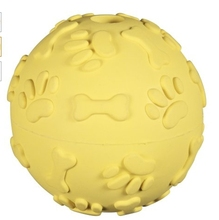 bone shape 2014 new pet products ball dog toy rubber pet toy wholesale pet toy rubber ball with low price