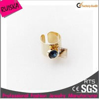 Super Quality Gold Plated With Diamond Open Cheap Ring Settings
