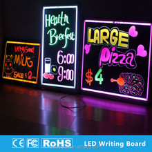 light up led menu boards drawing pictures with fluorescent pen
