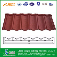 Aluminium Stone Coated Metal Roof Tile for Viall Building Roofing