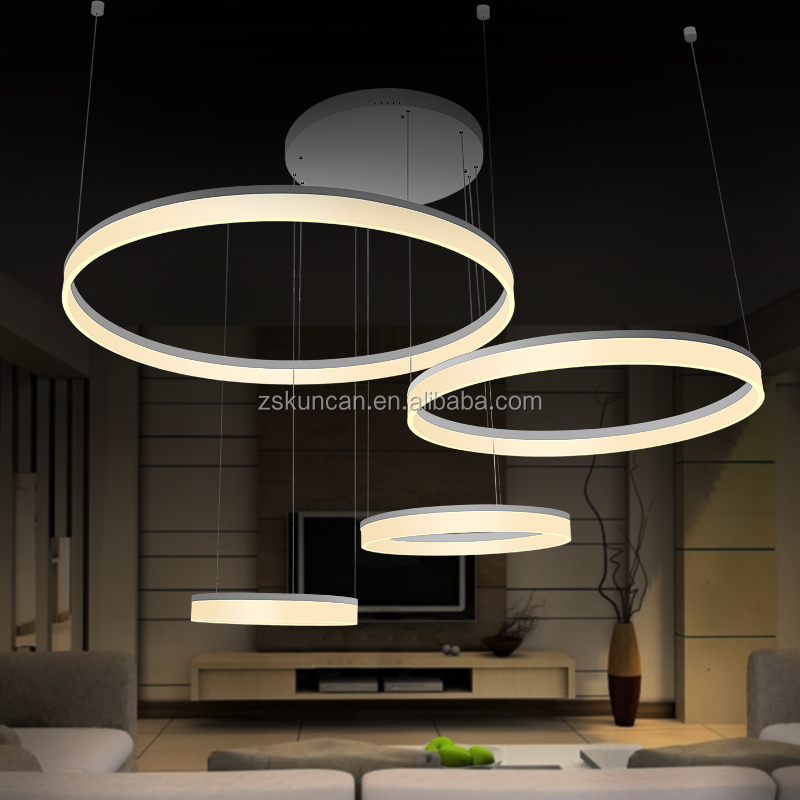 concepts de maison moderne cercle led lustre lustre id du produit 1819752312. Black Bedroom Furniture Sets. Home Design Ideas