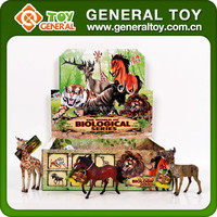 alive painting animal figure zoo animals cages plastic toy