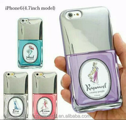 New 3D soft tpu princess nail polish Phone Case For iPhone6 4.7inch for iphone 6PLUS 5.5inch