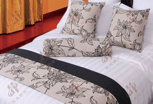 High Quality Flax Linen Bedding Set Bed Runner & sofa set Cushion Covers For 5-Star Hotels