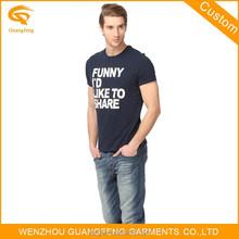 100%Single Jersey Cotton Basic Printed Black T-Shirts Men