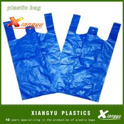 Sky blue shopping plastic bags