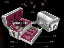 metal makeup case with combination lock
