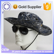 Blue Camo Wholesale Bucket Hars And Caps / Custom Bucket Hat With String