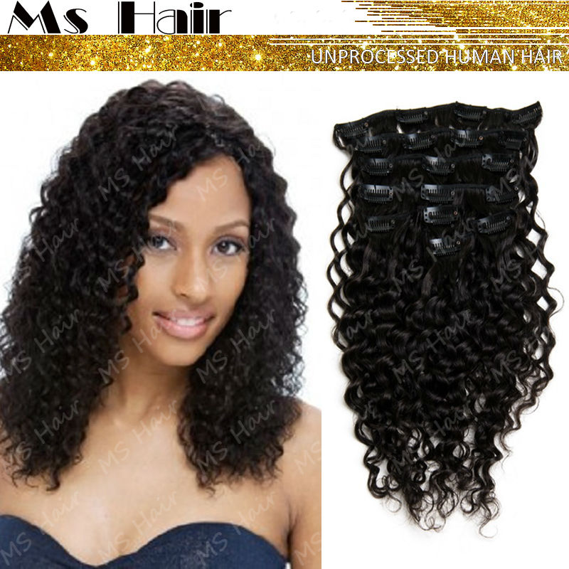 Clip in Extensions For Natural Black Hair Hair Extension Clips on