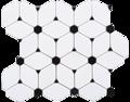Octagon Dan de mármol blanco mezcló hexagonal Nero Marquina prima mosaicos de azulejos