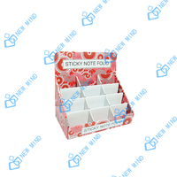 250g ccnb corrugated paper counter display box with inside card for sticky note