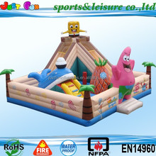 hot sale giant inflatable slide bouncer, commercial inflatable slide castle combo, bouncy castle slide for kids