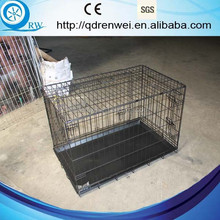 Dual Doors Metal Dog Crate Dog Cage with plastic pan