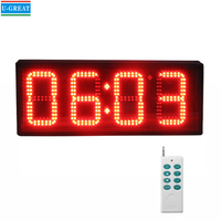 China wholesale high quality and low price RF control outdoor 7-segment led digital clock