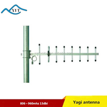 Outdoor GSM 806-960mhz 13dbi 9 elements yagi antenna wireless antenna 5KM