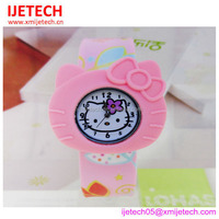 New design wholesale water proof silicone hello kitty watch