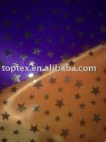 poly crystal organdy fabric, gold foil print fabric, furnishing fabric