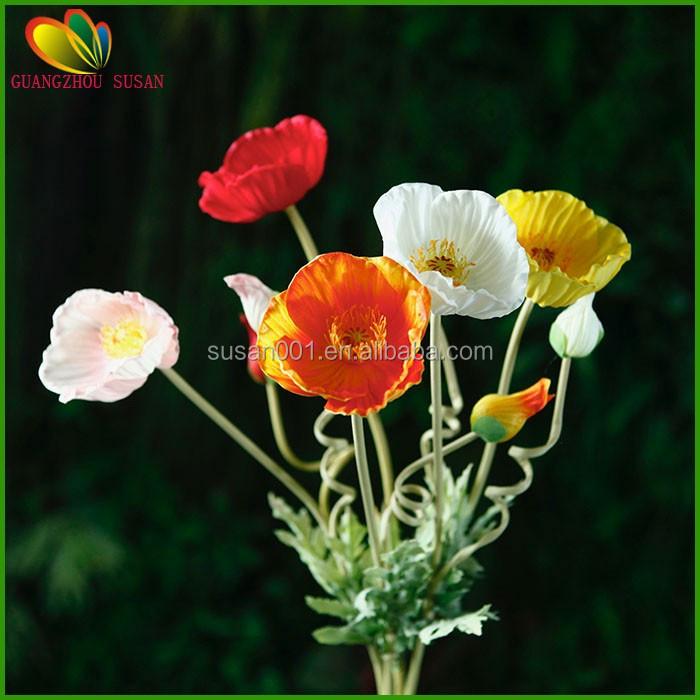 Hot sale real touch flower poppy flower poppy bouquet fake poppy h2hot sale real touch flower poppy flower poppy bouquet fake poppy flower for mightylinksfo