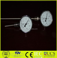 "Solid Metal Industrial Temperature Gauge Dial Probe 1/2"" BSP 100mm diameter"