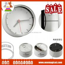 Fashion cheap mini cans-shaped clock metal desk clock
