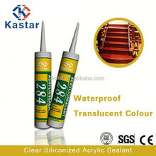 clear siliconized flexible tile adhesive high quality,acrylic sealant