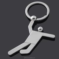 Metal basketball keychain for sports souvenir custom logo