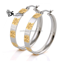 Wholesale Stainless Steel Chandelier Earrings With Gold Plated,Fashion Earrings Hot Sale