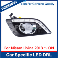 Car tuning accessories auto parts headlight led daytime running lights led daylight led drl for Nissan Livina