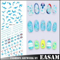 dolphin design water transfer nail art stickers