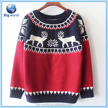 BIGWORLD pullover china sweater 100% cotton christmas sweater jumper with high quality-LCyh