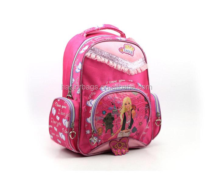 Personnalisé fille de sac enfants sac à dos pour l'école