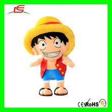 E496 Vivid One Piece Monkey D Luffy Plush Toys Stuffed Cartoon Doll