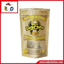 Alibaba China supplier stand up zipper bags kraft paper pouches for dog food