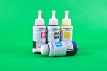 Specialized original ink for L series printer with color box ,high quality ink for epson L200,L400,L300