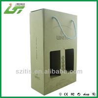 luxury custom made cardboard wine gift box
