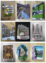 3D souvenir resin fridge magnet