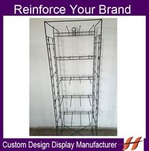Custom 5 tier Floor Display Stand Supermarket/ Retail Store Product Displays/ Metal Snack Food Display With Side Clips