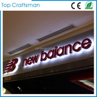 Stainless steel led backlit signs Outdoors Illuminated Channel Letters for shop front