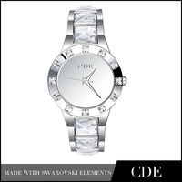 Hot sale high quality crystal stone watch made with swarovski elements
