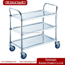 PRC-S3 cleaning service trolley,hand push cart,hand push food cart for sale