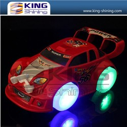 High quanlity OEM service hot style light-up products, slide switch LED toy car for promotional gifts.