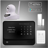 self-checking windows/doors statu APP control wifi gsm home fire alarm system free push 2015 security product with SOS button