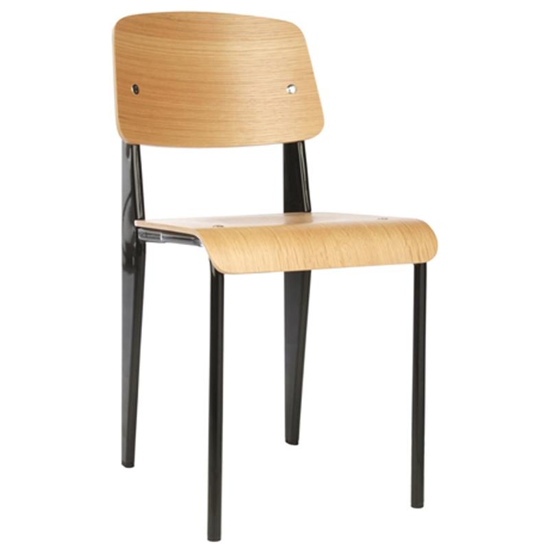 Modern mid century furniture colorful metal frame wooden standard