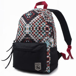 high class student 2015 school bag solid backpack multicolor